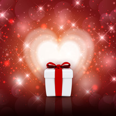 Valentine's day gift box background