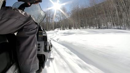 Snow Aspen Colorado Snowmobiles