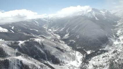 Peaks Mountains Clouds Aspen Colorado