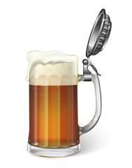 Mug of ale. Vector