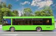 Leinwanddruck Bild - city bus moves down the street