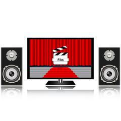 Screen presentation of the film, column, speaker