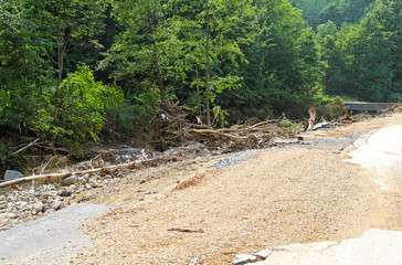 Debris after flood