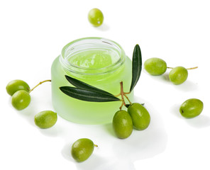 natural facial cream with olives