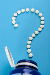 Question Mark Made With White Tablets