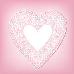 Lace Heart Doily, antique vintage design, valentine sweethearts