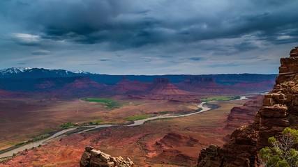 Western Landscape Utah Professor Valley Overlook Colorado River
