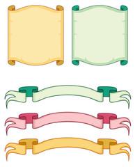 Colored scrolls