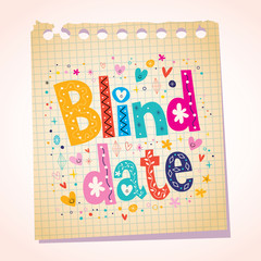 Blind date notepad paper message