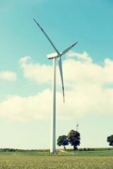 One windmill power generator.
