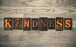 Kindness Wooden Letterpress Concept - 76605430