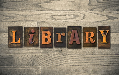 Library Wooden Letterpress Concept