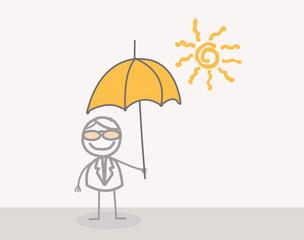 Doodle : Businessman Summer Umbrella