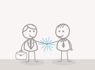 Doodle : Businessman Hand Shake