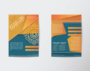 Vector Brochure Flyer Thai style template in A4 size