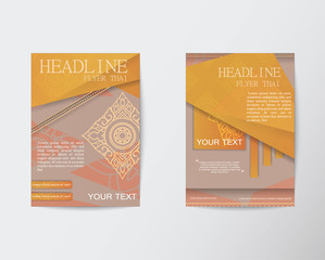 Thailand pattern Flyer design Vector Layout in A4 size
