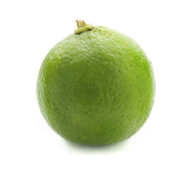 Fresh lime, Isolated on white background