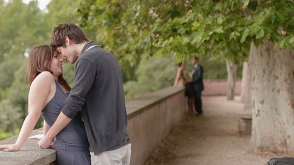 couples in love - in the most romantic place in rome