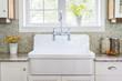 Leinwanddruck Bild - Kitchen sink and counter
