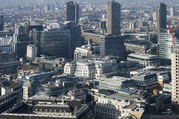 Aerial view of London from Walkie Talkie building