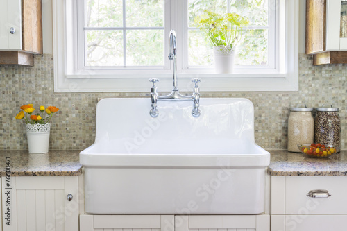Kitchen sink and counter - 76608471