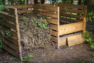 Backyard compost bins