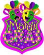 Mardi Gras Masks design - 76609479