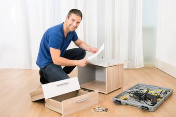 Portrait Of Happy Carpenter