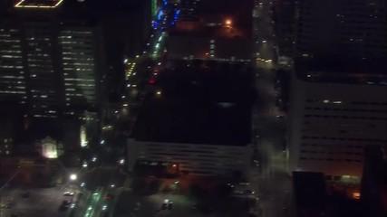 Houston Skyline Nighttime Aerial