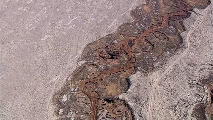 Desert River Mountain Fault Line