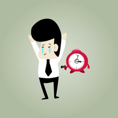 cry businessman working tired