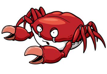 Vector illustration of Cartoon crab
