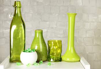 Interior with decorative vases