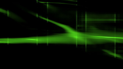 Green Science Fiction Streaks Looping Animated Background