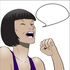 Joyful girl illustration
