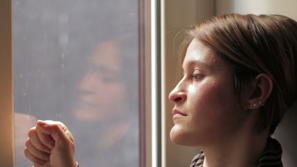 Beautiful woman waits a call