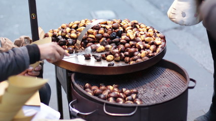 hot chestnuts sellers