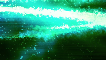 Green Science Fiction abstract looping animated background