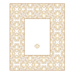 Gold frame in east style.