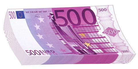 liasse de billets de 500 euros