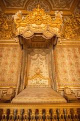 Interior of royal bedroom at Palace of Versailles