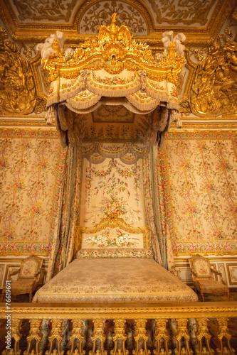 Interior of royal bedroom at Palace of Versailles - 76619691