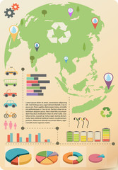 An infographics of the Earth