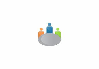 business teamwork logo vector