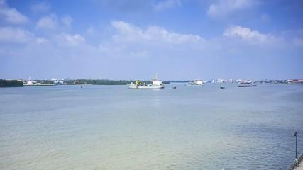 Ships in the Chaopraya River, Samutprakarn Province, Thailand