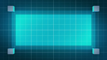 moving 3D cubes, loop BG, blue