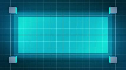 moving 3D cubes, loop BG, blue