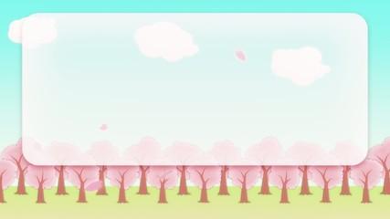 SAKURA - animated BG, telop area