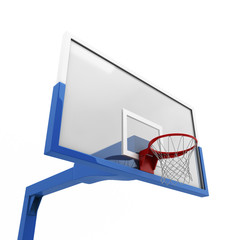 Basketball backboard close-up