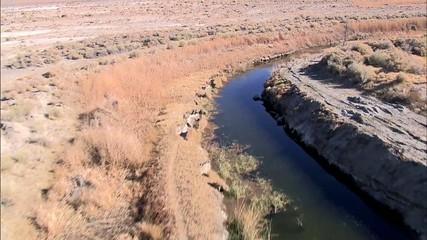 Desert River Reservoir Mountain